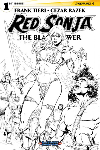 Red Sonja: The Black Tower #1 (Baltimore Razek B&W Cover)