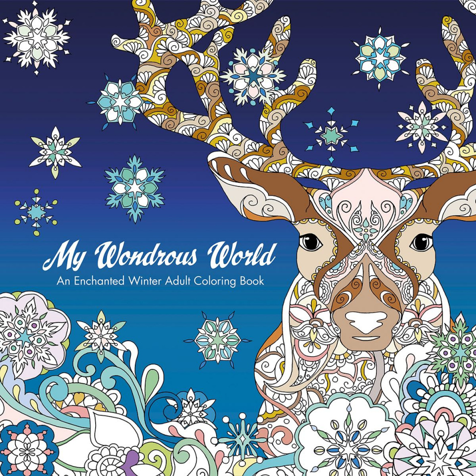 MyWondrous World: An Enchanted Winter Adult Coloring Book