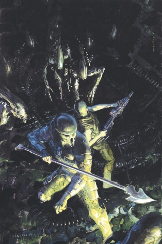 Aliens vs. Predator: Life and Death #1 (Palumbo Cover)