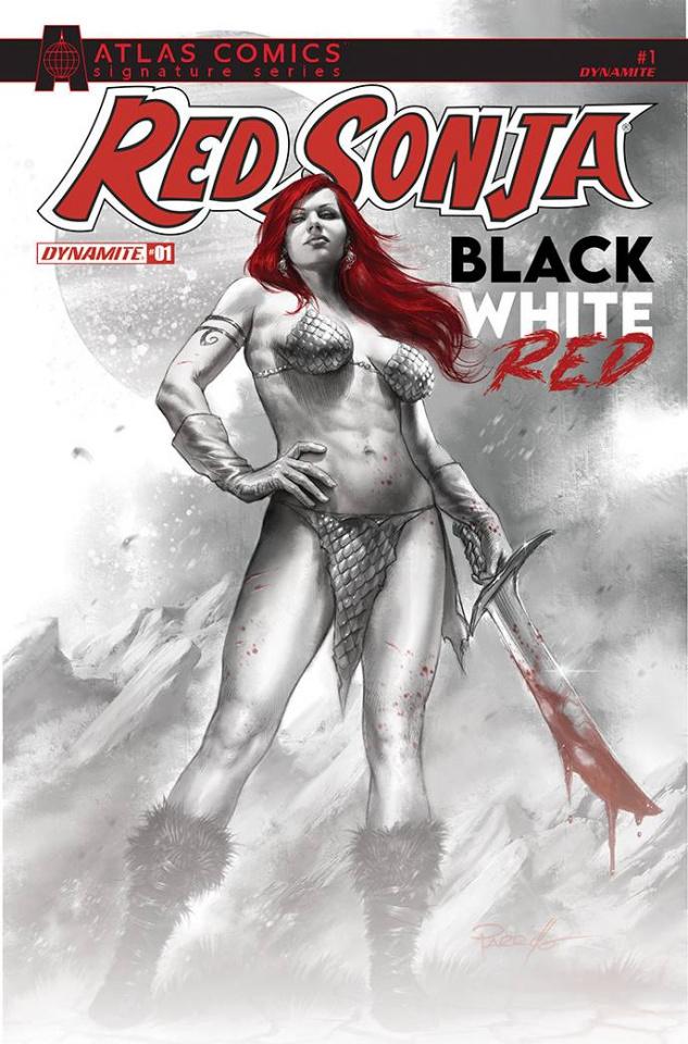 Red Sonja: Black, White, Red #1 (Deibert & Staggs Signed Atlas Cover)