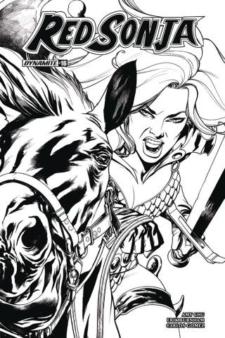 Red Sonja #16 (10 Copy McKone B&W Cover)
