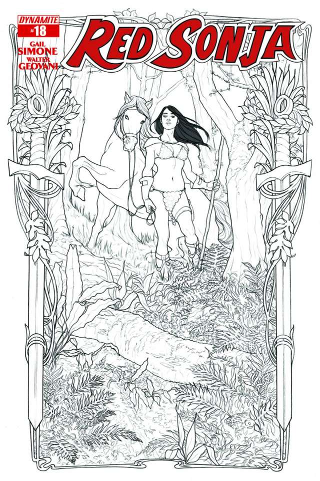 Red Sonja #18 (15 Copy Frison B&W Cover)