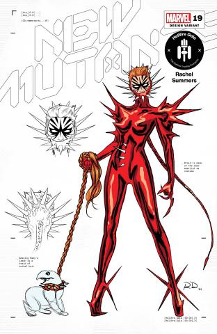 New Mutants #19 (Dauterman Rachel Summers Design Cover)