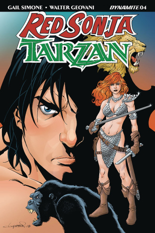 Red Sonja / Tarzan #4 (Lopresti Cover)