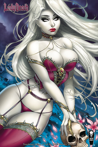 Lady Death: Treacherous Infamy #1 (Turner Violet Cover)
