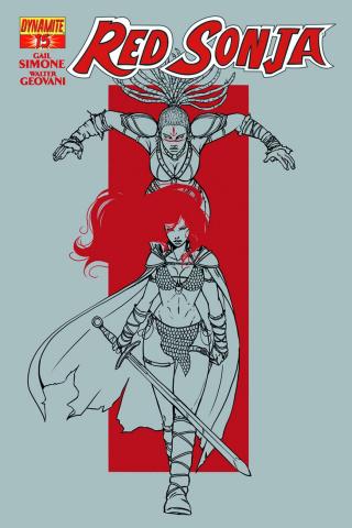 Red Sonja #15 (25 Copy Vieceli B&W Cover)