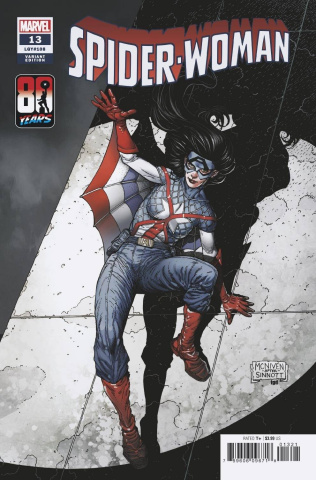 Spider-Woman #13 (McNiven Captain America 80th Anniversary Cover)