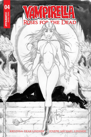 Vampirella: Roses for the Dead #4 (10 Copy Tucci B&W Cover)