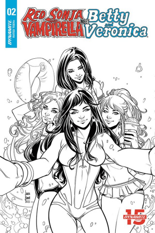 Red Sonja and Vampirella Meet Betty and Veronica #2 (20 Copy Braga B&W Cover)