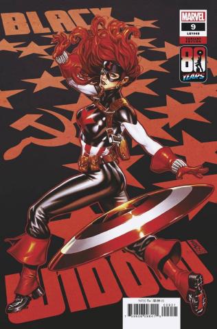 Black Widow #9 (Brooks Captain America 80th Anniversary Cover)