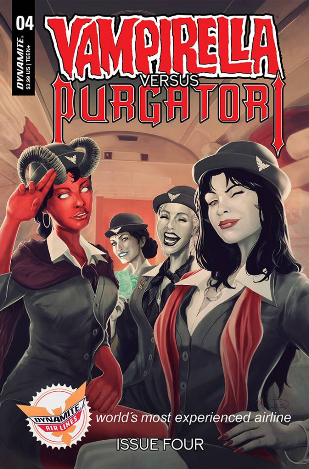 Vampirella vs. Purgatori #4 (Premium Maine Cover)