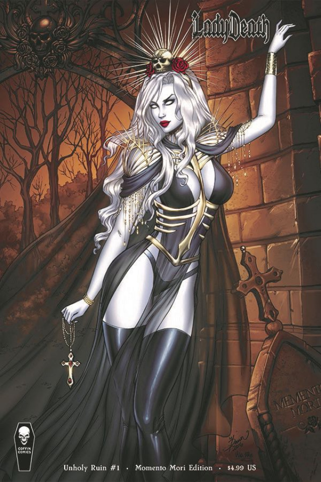 Lady Death: Unholy Ruin #1 (Momento Mori Cover)