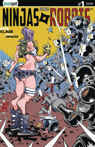 Ninjas and Robots #1 (Erik Klaus Cover)