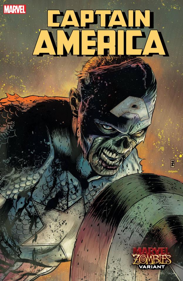 Captain America #21 (Zircher Marvel Zombies Cover)