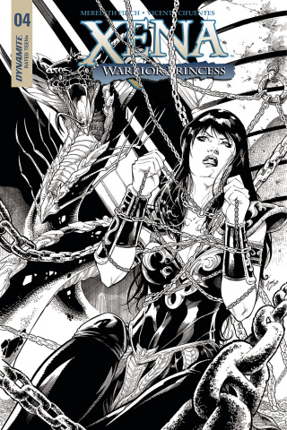 Xena #4 (20 Copy Cifuentes B&W Cover)