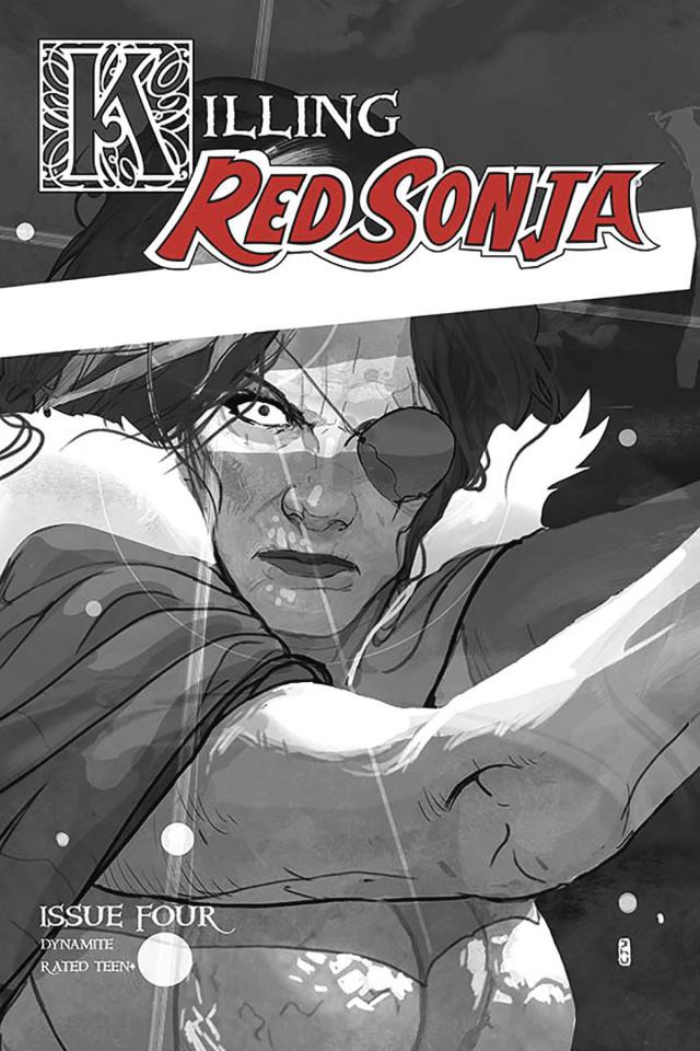Killing Red Sonja #4 (10 Copy Ward Grayscale Cover)