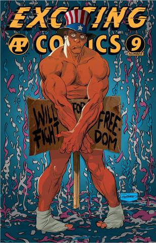 Exciting Comics #9 (Denham Cover)