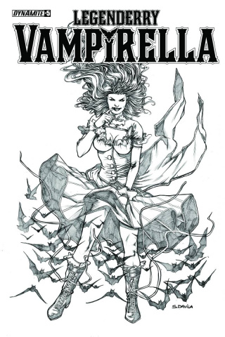 Legenderry: Vampirella #5 (10 Copy Davila B&W Cover)
