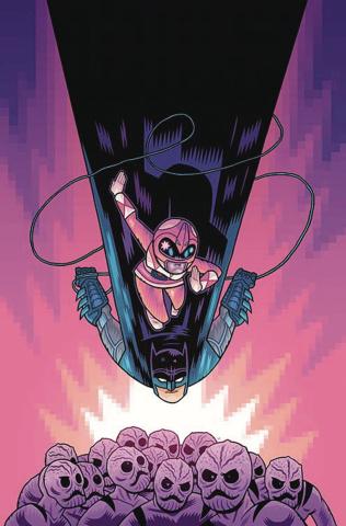 Justice League / Power Rangers #1 (Batman / Pink Ranger Cover)
