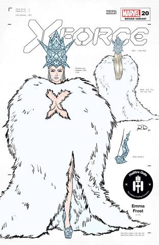 X-Force #20 (Dauterman Emma Frost Design Cover)