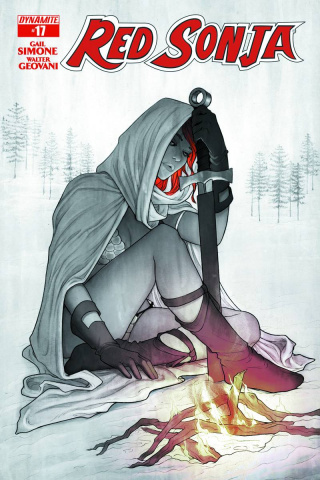 Red Sonja #17 (15 Copy Frison B&W Cover)