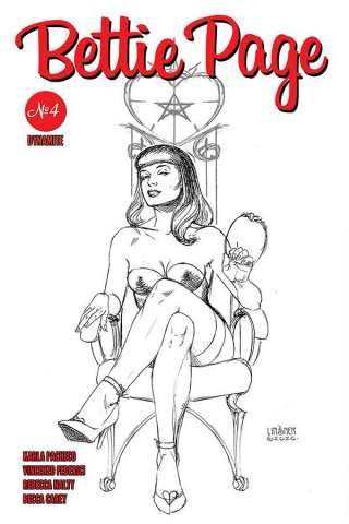 Bettie Page #4 (35 Copy Linsner B&W Cover)