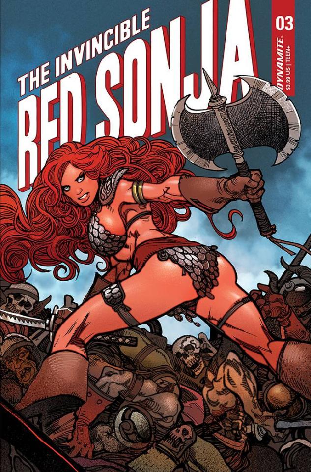 The Invincible Red Sonja #3 (Premium Moritat Cover)
