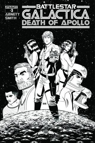 Battlestar Galactica: Death of Apollo #3 (10 Copy Smith B&W Cover)