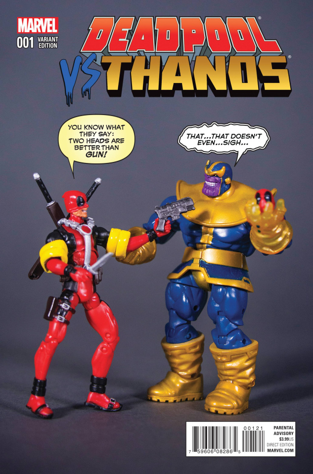 Deadpool vs. Thanos #1 (Action Figure Cover)