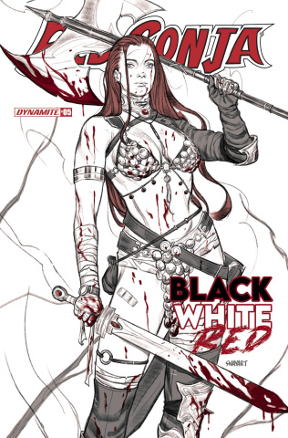 Red Sonja: Black, White, Red #5 (Sway Cover)