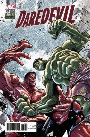 Daredevil #598 (Checchetto Hulk Cover)