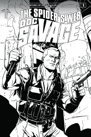 Doc Savage: The Spider's Web #1 (20 Copy Laming B&W Cover)