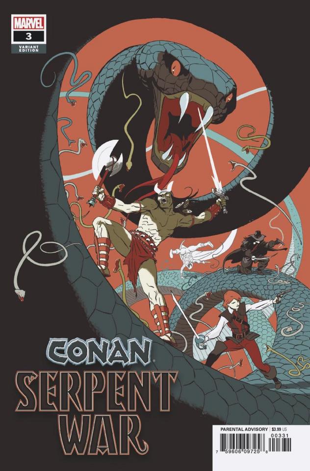 Conan: Serpent War #3 (Martin Cover)