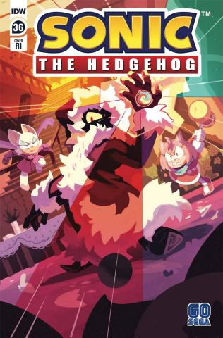 Sonic the Hedgehog #36 (10 Copy Fourdraine Cover)