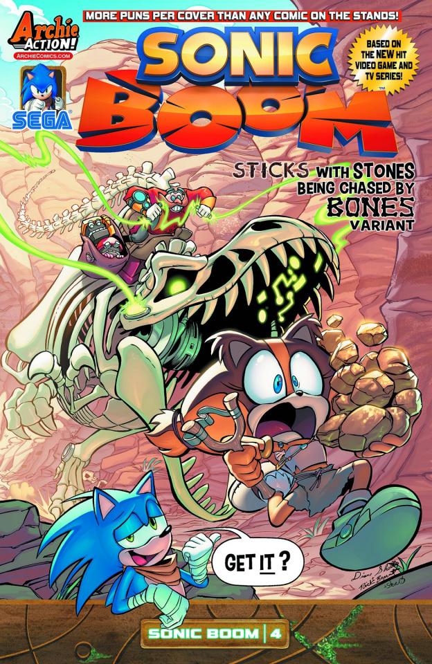 Sonic Boom #4 (Sticks Stones Bones Cover)