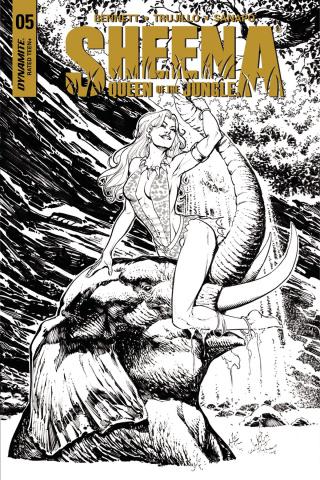 Sheena #5 (20 Copy Santucci B&W Cover)