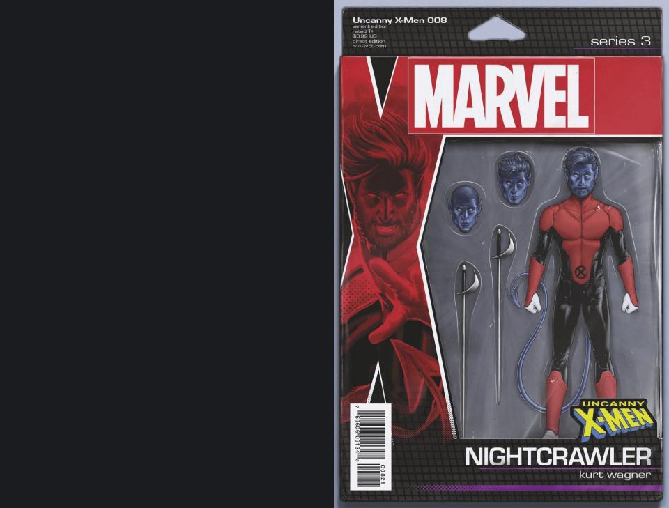 Uncanny X-Men #8 (Christopher Action Figure Cover)