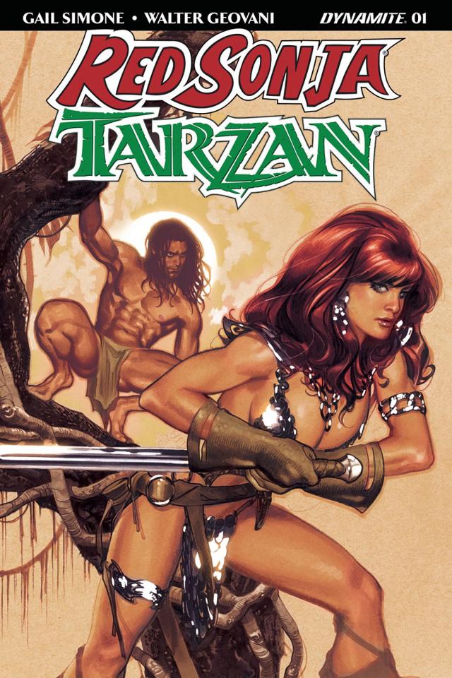 Red Sonja / Tarzan #1 (Hughes Cover)