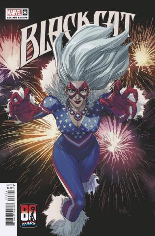 Black Cat #8 (Yu Captain America 80th Anniversary Cover)