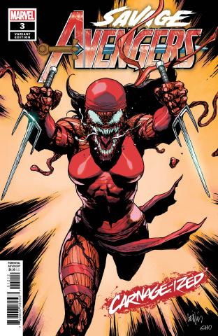Savage Avengers #3 (Yu Carnage-ized Cover)