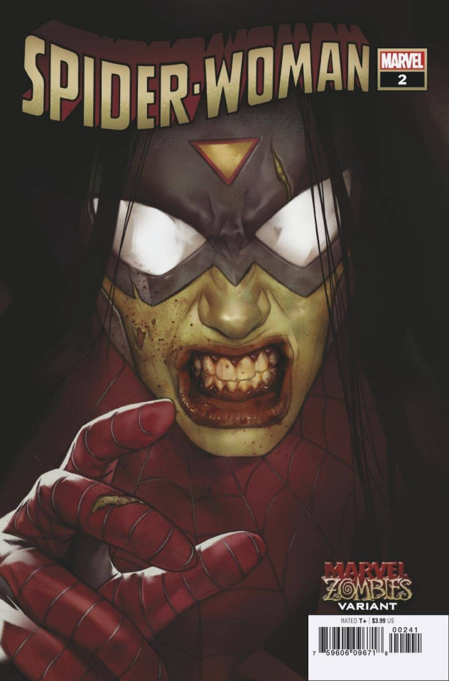 Spider-Woman #2 (Oliver Marvel Zombies Cover)