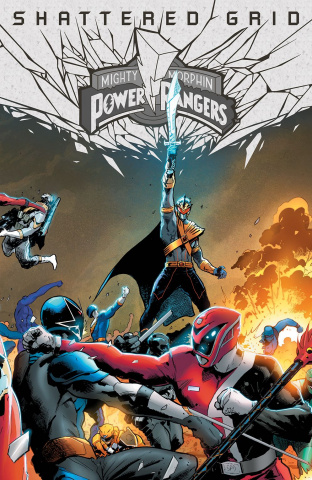 Mighty Morphin' Power Rangers: Shattered Grid #1 (Holofoil Hairsine Cover)
