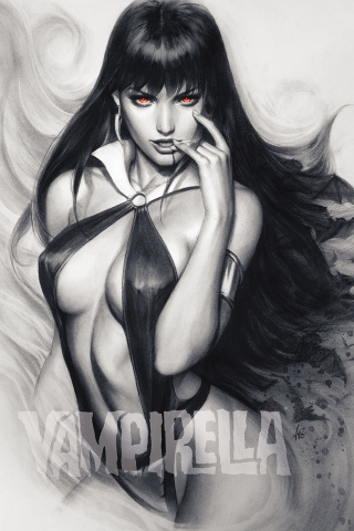 Vampirella #6 (15 Copy Artgerm Charcoal Red Eyes Cover)