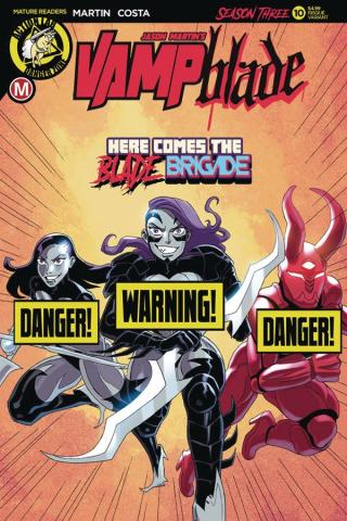 Vampblade, Season Three #10 (Costa Risque Cover)