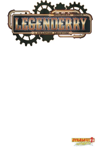 Legenderry: A Steampunk Adventure #1 (Blank Authentix Cover)