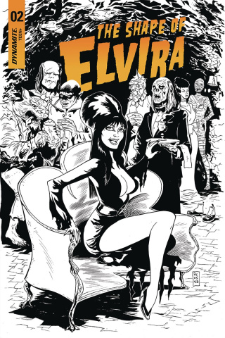 The Shape of Elvira #2 (30 Copy Acosta B&W Cover)