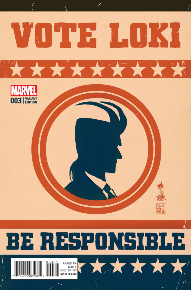 Vote Loki #3 (Francavilla Cover)