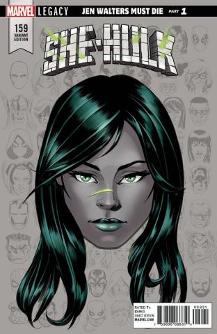 She-Hulk #159 (McKone Legacy Headshot Cover)