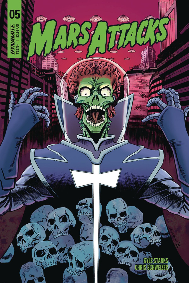 Mars Attacks #5 (Marron Cover)
