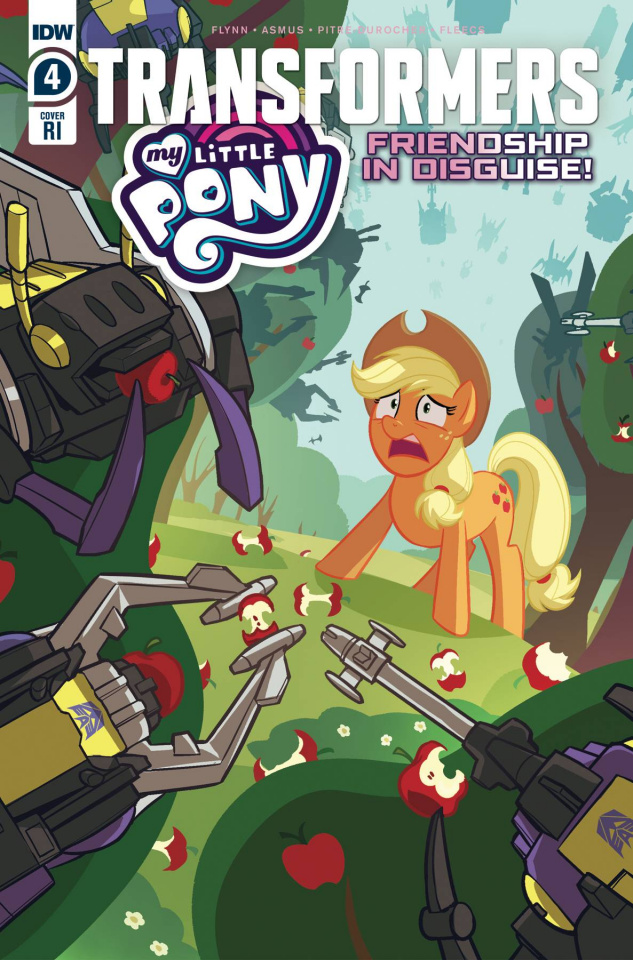 My Little Pony / The Transformers #4 (10 Copy Pitre-Durocher Cover)